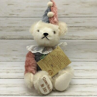 1994 Hermann Germany Mohair Limited Edition Clown Yes No Bear Tags