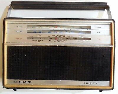 Vintage Radio Sharp Solid State Fy-178L Made In Japan 196?