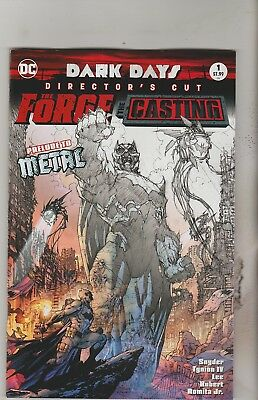 Dc Comics Dark Days The Forge The Casting Directors Cut #1 January 2018 Nm