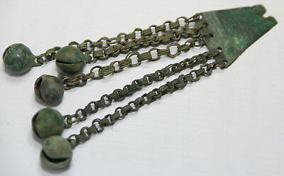 ANCIENT VIKING BRONZE pendant with chain. WEIGHT-43g BIG SIZE