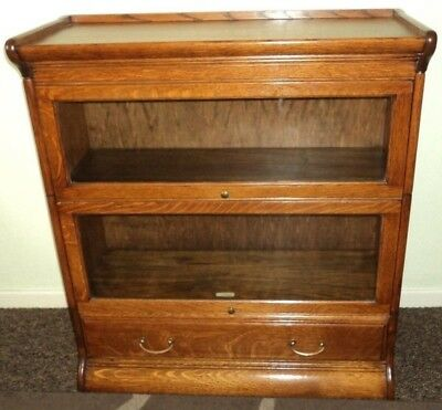 GLOBE WERNICKE STYLE - WITH DRAW + 2 UNIT STACKING BOOKCASE - J Hunter&Co