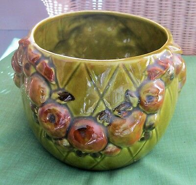 Vintage Los Angeles California Art Pottery Planter Raised Fruit Design