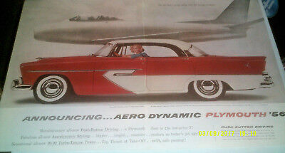 1956 Plymouth Belvedere 4-Door Hardtop Sport Sedan Automobile Original Ad