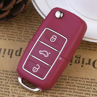 1pc Red 3 Button Remote Key Fob Case Shell For VW Bora Beetle Golf Polo Passat