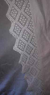 Antique 1850's Ships Linen & Lace Hand Embroidered Large Coverlet Signed & dated