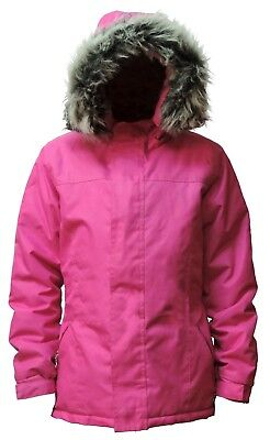 Womens Duffle Winter Coat Jacket (Waterproof and Windproof with removable fur)