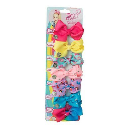 JoJo Siwa 7 Days of the Week Hair Bows Dance Moms Rainbow Rhinestone