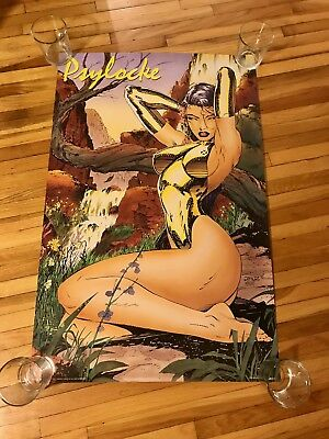 Marvel X-Men PSYLOCK Pin up Swimsuit Poster 1992 by JIM LEE