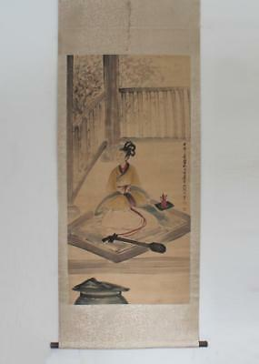 Fine Chinese Hand Painted Painting Scroll Fu Baoshi Marked (118)