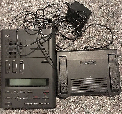 Philips 1730 microcassette transcriber with foot pedal