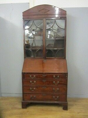 Stunning Antique Georgian Mahogany Bureau Bookcase