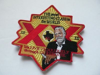 """DOS EQUIS XX """"The most interesting man in the world"""" BEER patch embroidered velc"""