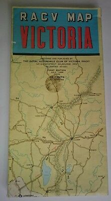 Vintage RACV Map Victoria 1st. Edition 1968