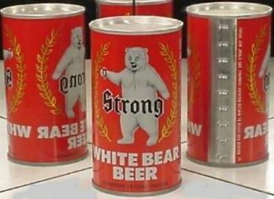 Strong White Bear Beer Flat Top A/F Walter Brewing Eau Claire Wisconsin 631
