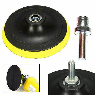 "3""/4""/5""/6""/7"" Car Backing Pad Polishing Plate Buffing Pad M14 Drill Thread KitB"