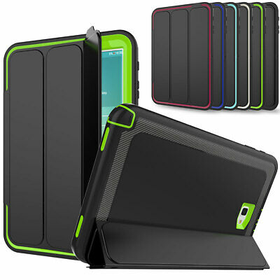 For Samsung Galaxy Tab A 10.1 T580 Heavy Hybrid Rubber Shockproof Flip Hard Case