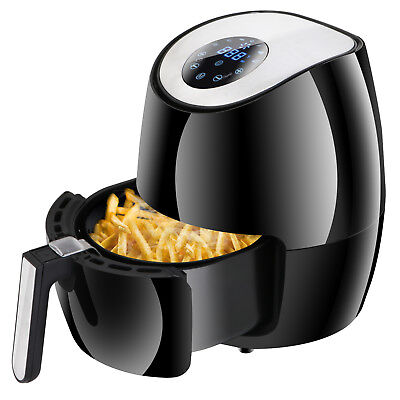 Air Fryer Hot Frying Non-Stick Rapid 6 Cooking Presets w/ Touch Screen Black