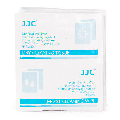 JJC 50x Wet Wipes & 50x Dry Tissues for Cleaning Camera Lenses & Optics