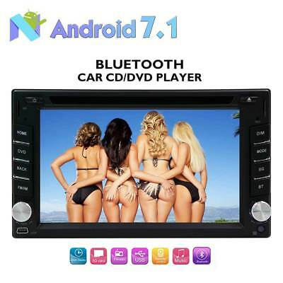 """Camera+2 Din Android 7.1 Car Stereo  6.2"""" Touchscreen GPS Bluetooth DVD Player"""
