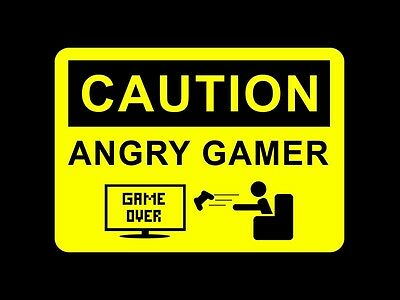 Angry Gamer, Gaming, Xbox Playstation Inspirational / Poster /a3 Print