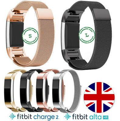 Metal Fitbit Charge 2 Alta HR Replacement Milanese Band Strap Secure Wristband