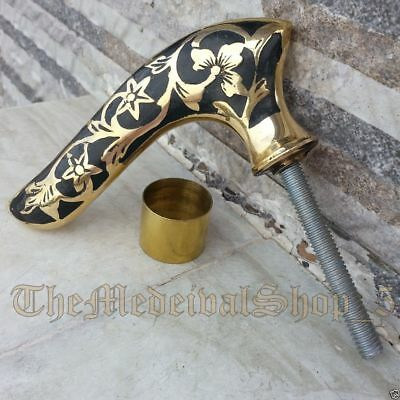 Solid Brass Victorian Handle Antique Style Walking Canes Stick Vintage Handle
