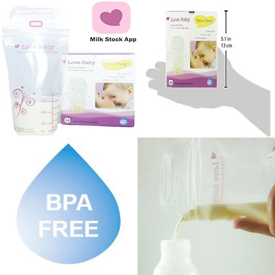 Direct-Pump Breast Milk Storage Bags by Love Baby 50 Count