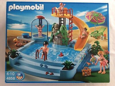 Playmobil 4858 Swimming Pool With Water Slide