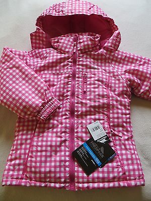 BNWT Girls Pink White Check Trespass TP50 3 in one Hooded Coat Jacket Age 5-6 yr