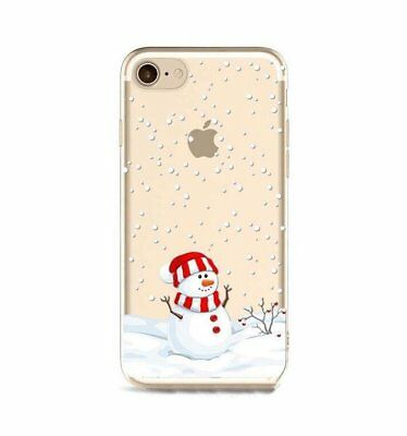 Xmas Christmas Snowman Festive Gifts Phone Case Cover For iPhone 7 Plus 6 5S X