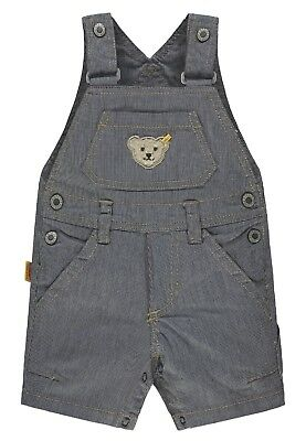 Steiff Collection Boys Latzhose kurz  gr. 62 / 3 Monate blue denim / weiß