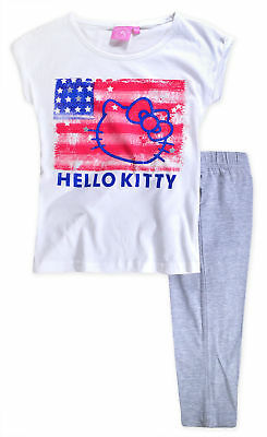 Girls Hello Kitty PJ New Kids Short Sleeved Cotton Pyjama Set 9 10 11 12 13 14 Y