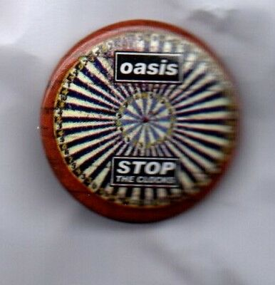 OASIS Stop The Clocks BUTTON BADGE English Indie Rock Band - Britpop 25mm Pin