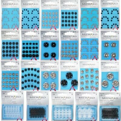 Milward Sew On Snap Press Stud Fasteners Metal or Plastic