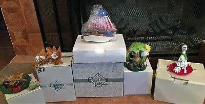 1995 CHARMING TAILS & Figurine - Lot of 5 -  All with Boxes - Nice -