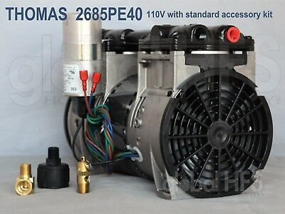 Thomas 2685PE40 Air Vending Tire inflation Coin Operated Air Compressor 3/4hp