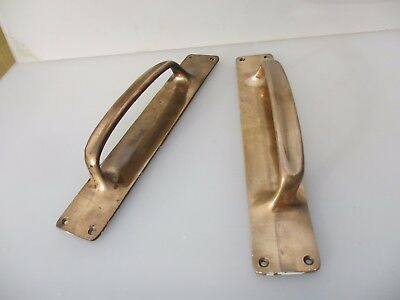Antique Bronze Door Handles Shop Pulls Architectural Vintage Edwardian Old 13""