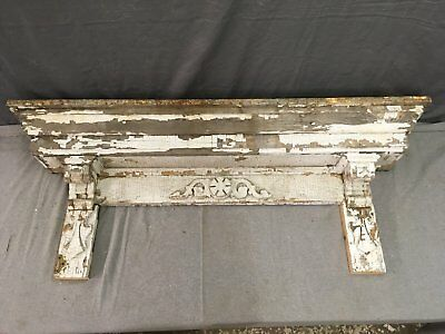 Antique Pediment Header Corbel Mantel Shelf Vtg Shabby Victorian Chic 778-17E