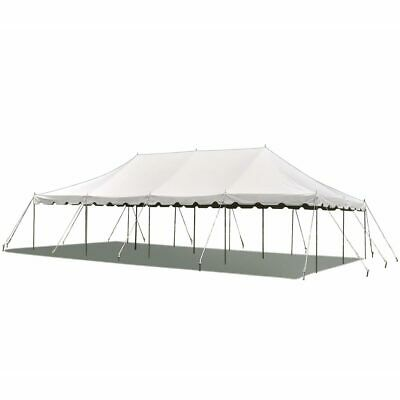 20x40 Pole Tent Party Wedding Canopy White Commercial Light Weight Vinyl Marquee