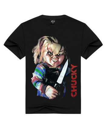3D Seed of Chucky Ghost Baby Horror Black Tops T-shirt Gothic Punk Rock Fashion