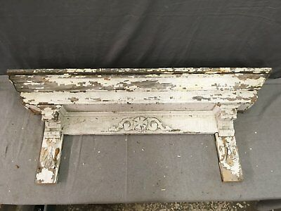 Antique Pediment Header Corbel Mantel Shelf Vtg Shabby Victorian Chic 782-17E