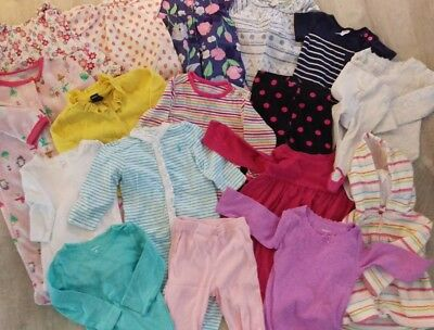 Infant Baby Girl 6 Months & 9 Months Winter & Spring Clothing. Shirts, Pants, Pj