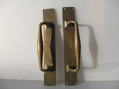 Antique Bronze Door Handles Shop Pulls Architectural Vintage Edwardian Old 14""