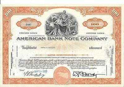 American Bank Note Company.....1963 Stock Certificate