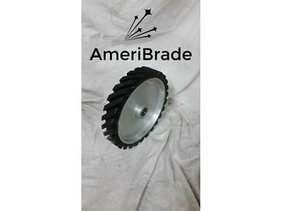 "10"" serrated Contact wheel for 2x72 belt grinder sander, Dynamically balanced"