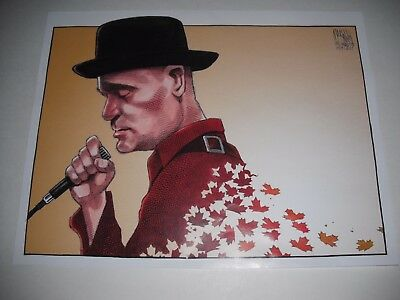 """Tragically Hip """"gord Downie"""" 2017 Tribute Caricature Picture Cartoon Image Print"""