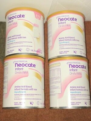 4-14.1oz cans NEOCATE INFANT with DHA/ARA by NUTRICIA - NEW