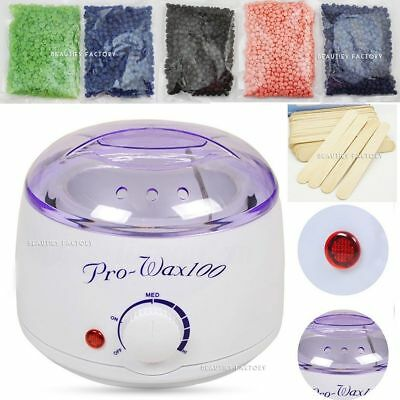 Bikini Painless Hard Wax Beans + Hot Wax Warmer Heater Machine For Hair Removal