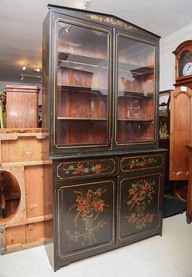 1900s English Hand-painted Bookcase