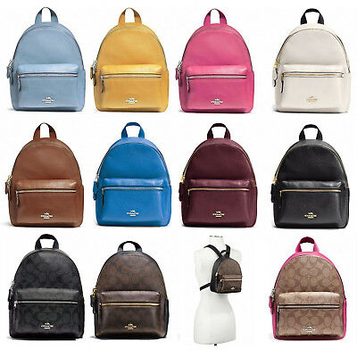 New Coach F38263 F58315 Mini Charlie Backpack With Gift Box New With Tags